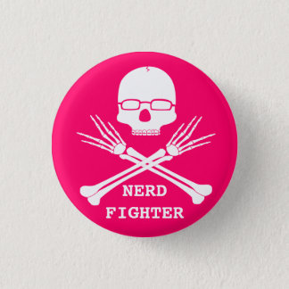 NERD FIGHTER, Customize colour (see description) 1 Inch Round Button