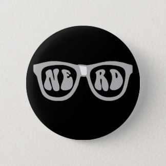Nerd Glasses 2 Inch Round Button