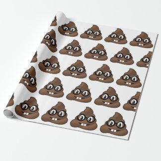Nerd Glasses Poop Emoji Wrapping Paper