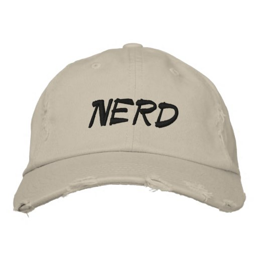 Nerd Hats by M.c. Pressure Embroidered Baseball Cap