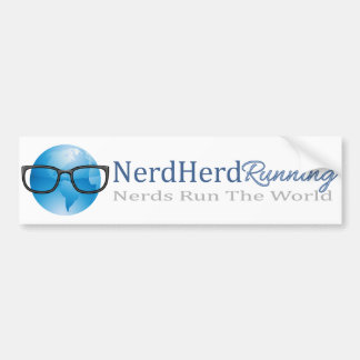 Nerd Herd Running Bumper Sticker