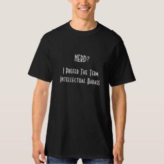 Nerd?.. Intellectual Badass | Mens Black T-Shirt