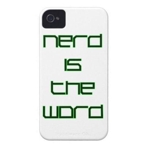 Nerd is the Word Blackberry Bold Case