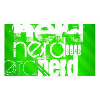 Nerd; Neon Green Stripes Pack Of Standard Business Cards