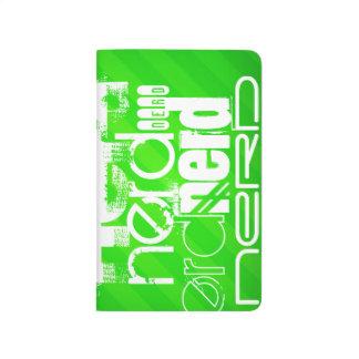 Nerd; Neon Green Stripes Journal
