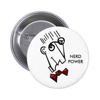 Nerd power 2 inch round button