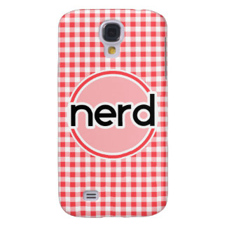 Nerd; Red and White Gingham Samsung Galaxy S4 Cover