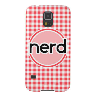 Nerd; Red and White Gingham Case For Galaxy S5