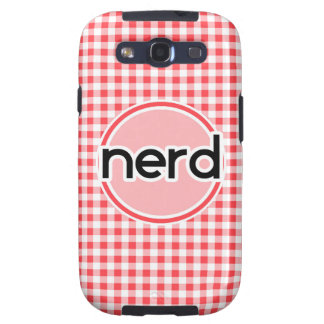 Nerd; Red and White Gingham Galaxy SIII Case