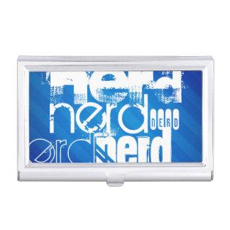 Nerd; Royal Blue Stripes Business Card Cases