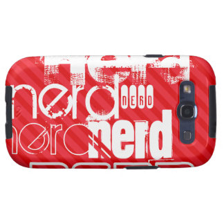 Nerd; Scarlet Red Stripes Samsung Galaxy S3 Cover