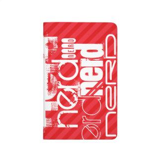 Nerd; Scarlet Red Stripes Journals