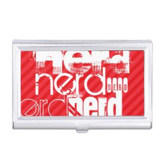 Nerd; Scarlet Red Stripes Business Card Cases