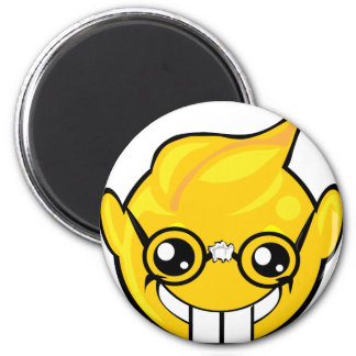 nerd smiley face 2 inch round magnet