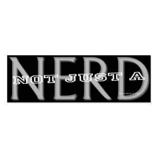 Nerd - Social Media Personal Card Business Card