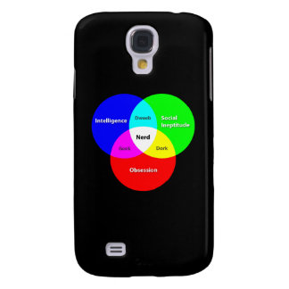 Nerd Venn Diagram Samsung Galaxy phone case Galaxy S4 Case