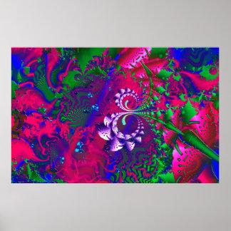 Nerdberries Psychedelic Fractal Poster
