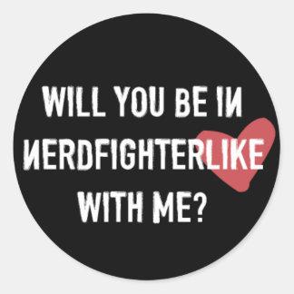 Nerdfighter Like: Black Classic Round Sticker