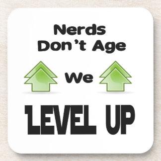 Nerds Don't Age We Level Up Coaster