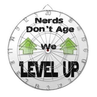 Nerds Don't Age We Level Up Dartboard