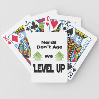 Nerds Don't Age We Level Up Poker Deck