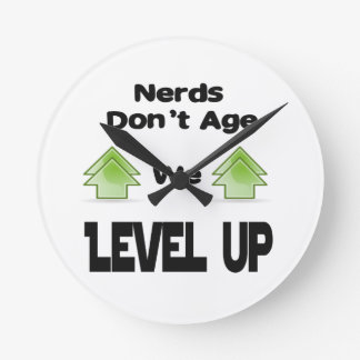 Nerds Don't Age We Level Up Wall Clocks