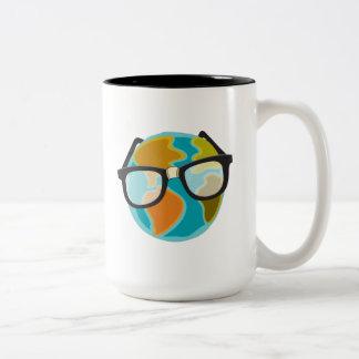 Nerds for the Earth Two-Tone Coffee Mug