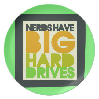 Nerds have big hard drives plate
