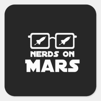 Nerds on Mars Square Sticker