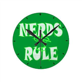 Nerds rule humor funny clock