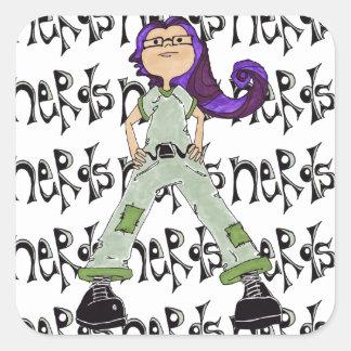 Nerds Rule Square Sticker