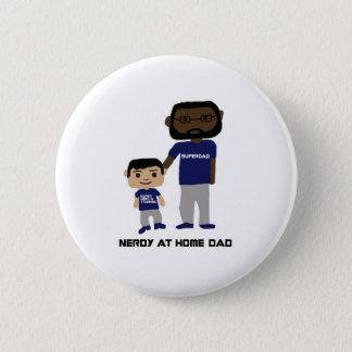 Nerdy at Home Dad Button