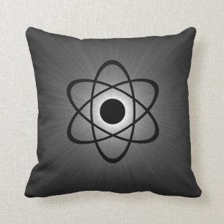 Nerdy Atomic Pillow, Gray Throw Pillow