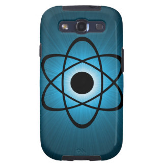 Nerdy Atomic Samsung Galaxy S3 Case, Blue