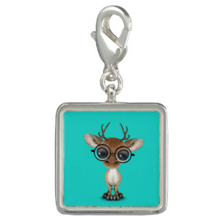 Nerdy Baby Deer Wearing Glasses Charms