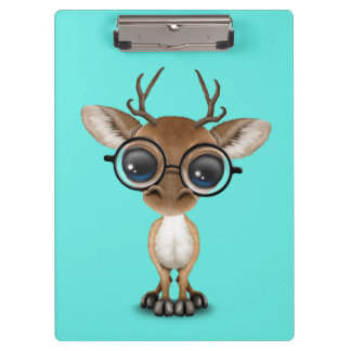 Nerdy Baby Deer Wearing Glasses Clipboard