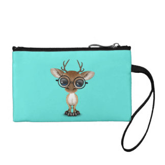 Nerdy Baby Deer Wearing Glasses Coin Purse