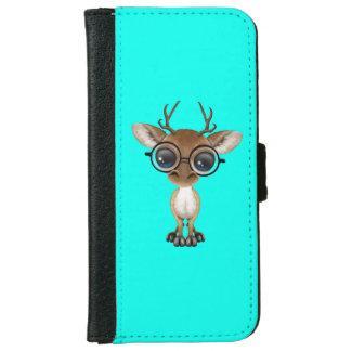 Nerdy Baby Deer Wearing Glasses iPhone 6 Wallet Case