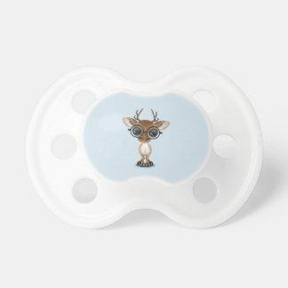 Nerdy Baby Deer Wearing Glasses Pacifier