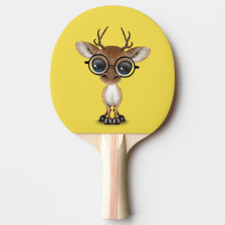 Nerdy Baby Deer Wearing Glasses Ping Pong Paddle