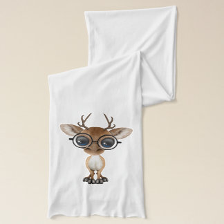 Nerdy Baby Deer Wearing Glasses Scarf