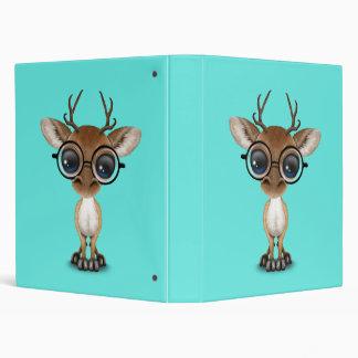 Nerdy Baby Deer Wearing Glasses Vinyl Binder