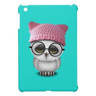 Nerdy Baby Owl Wearing Pussy Hat iPad Mini Case