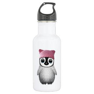 Nerdy Baby Penguin Wearing Pussy Hat 532 Ml Water Bottle
