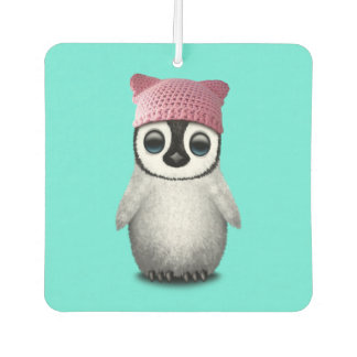Nerdy Baby Penguin Wearing Pussy Hat Air Freshener
