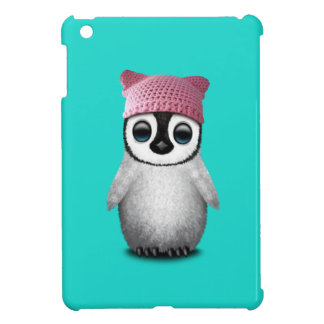 Nerdy Baby Penguin Wearing Pussy Hat iPad Mini Cover