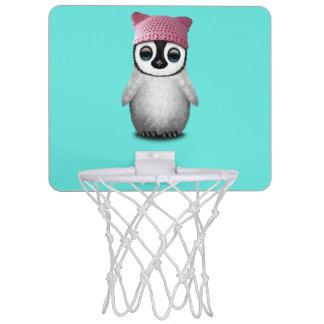 Nerdy Baby Penguin Wearing Pussy Hat Mini Basketball Hoop