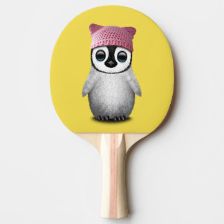 Nerdy Baby Penguin Wearing Pussy Hat Ping Pong Paddle