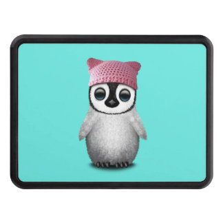 Nerdy Baby Penguin Wearing Pussy Hat Trailer Hitch Cover