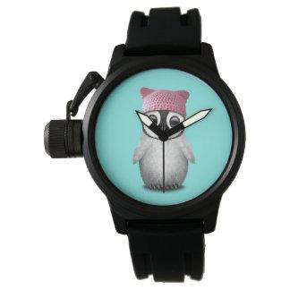 Nerdy Baby Penguin Wearing Pussy Hat Watch